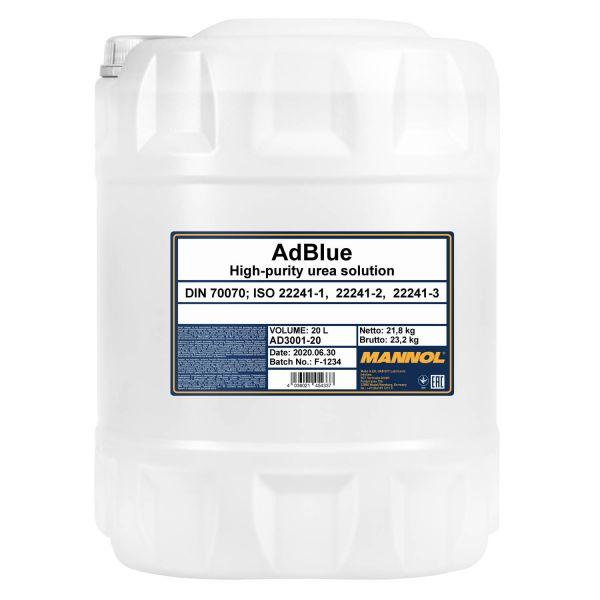 20 (1x20) Liter MANNOL AdBlue - Zusatz zur Abgasreinigung