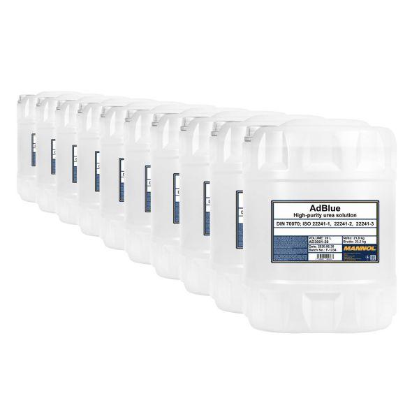 200 (10x20) Liter MANNOL AdBlue - Zusatz zur Abgasreinigung
