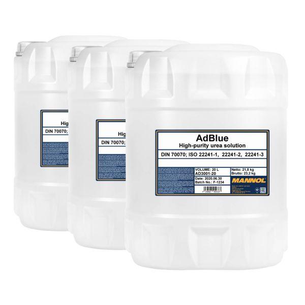 60 (3x20) Liter MANNOL AdBlue - Zusatz zur Abgasreinigung