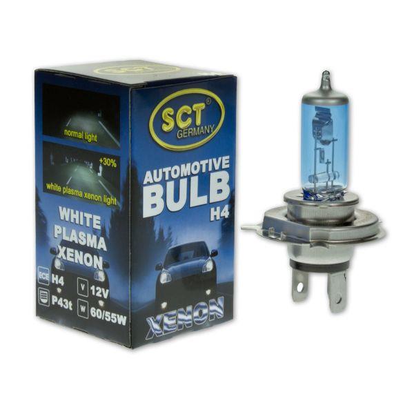 1 Stk SCT Glühlampe, Fernscheinwerfer White Plasma Xenon H4, 12V, 60/55W, P43t
