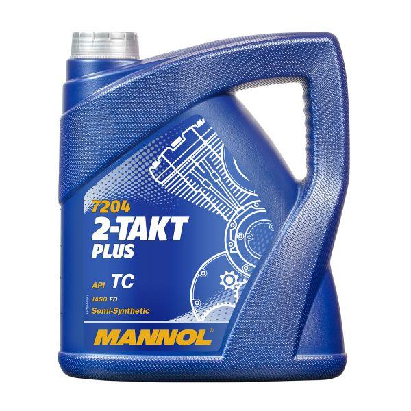 4 (1x4) Liter MANNOL 2-Takt Plus - synthetisches Mischöl / Motoröl