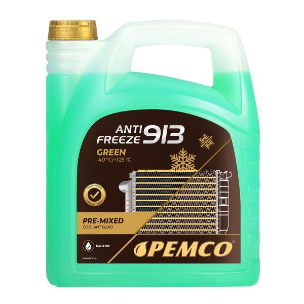 5 (1x5) Liter PEMCO Antifreeze 913 Ready Mix -40° / Kühlerfrostschutz Fertiggemisch grün