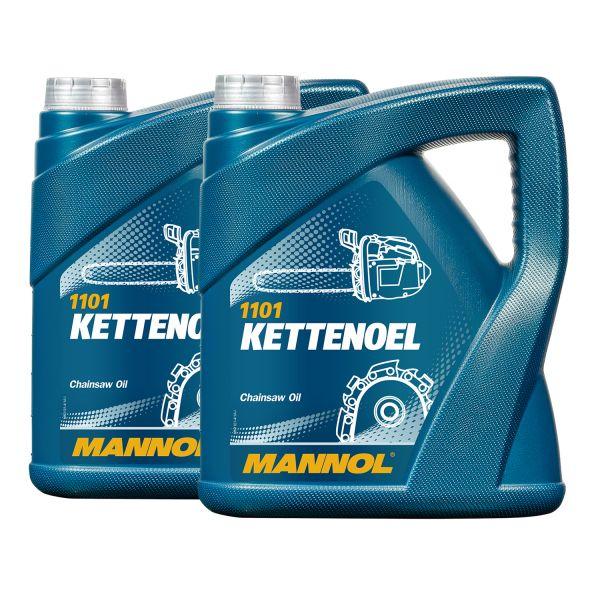 8 (2x4) Liter MANNOL Kettenöl / Kettenhaftöl für Motorsägen