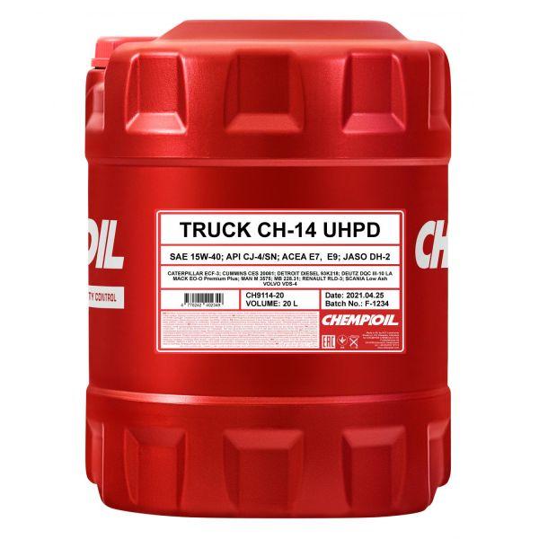 20 (1x20) Liter CHEMPIOIL TRUCK UHPD CH-14 SAE 15W-40 Motoröl
