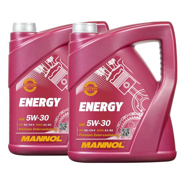 10 (2x5) Liter MANNOL 5W-30 Energy teilsynthetisches Motoröl