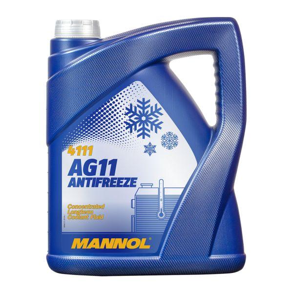 5 (1x5) Liter MANNOL Longterm Antifreeze AG11 Kühlerfrostschutz Konzentrat blau