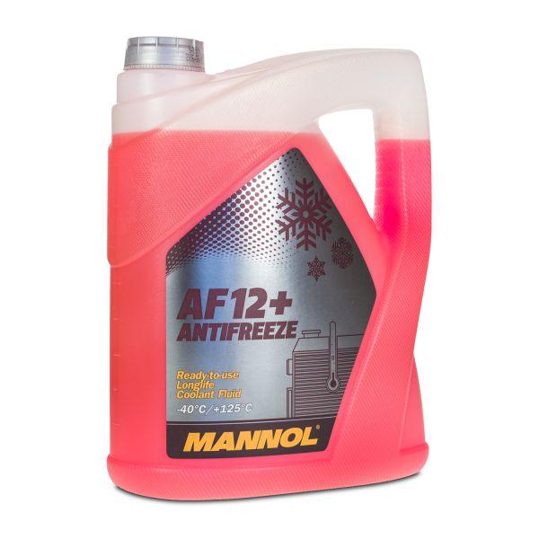 5 (1x5) Liter MANNOL Antifreeze AF12+ Kühlerfrostschutz Fertiggemisch rot (-40°C) rot