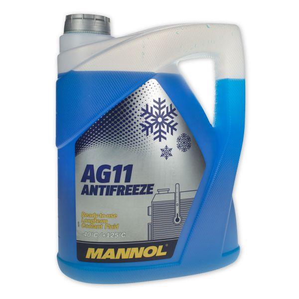 5 (1x5) Liter MANNOL Longterm Antifreeze AG11 -40°C Kühlerfrostschutz Fertiggemisch