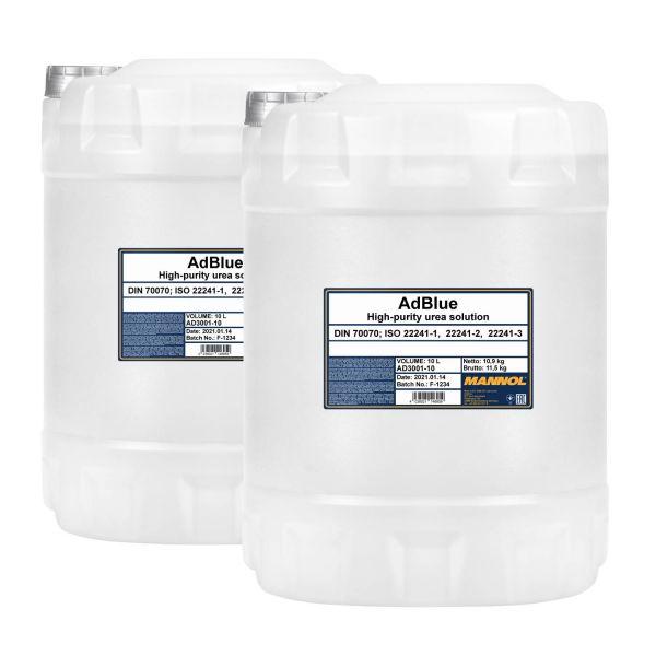 20 (2x10) Liter MANNOL AdBlue - Zusatz zur Abgasreinigung