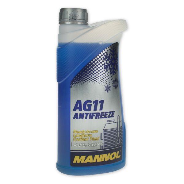 1 Liter MANNOL Longterm Antifreeze AG11 -40°C Kühlerfrostschutz Fertiggemisch