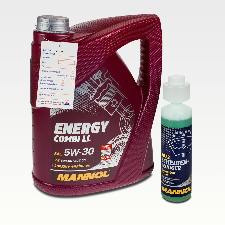 5 litri mannol 5w 30 combi ll 250ml mannol detergente. Black Bedroom Furniture Sets. Home Design Ideas