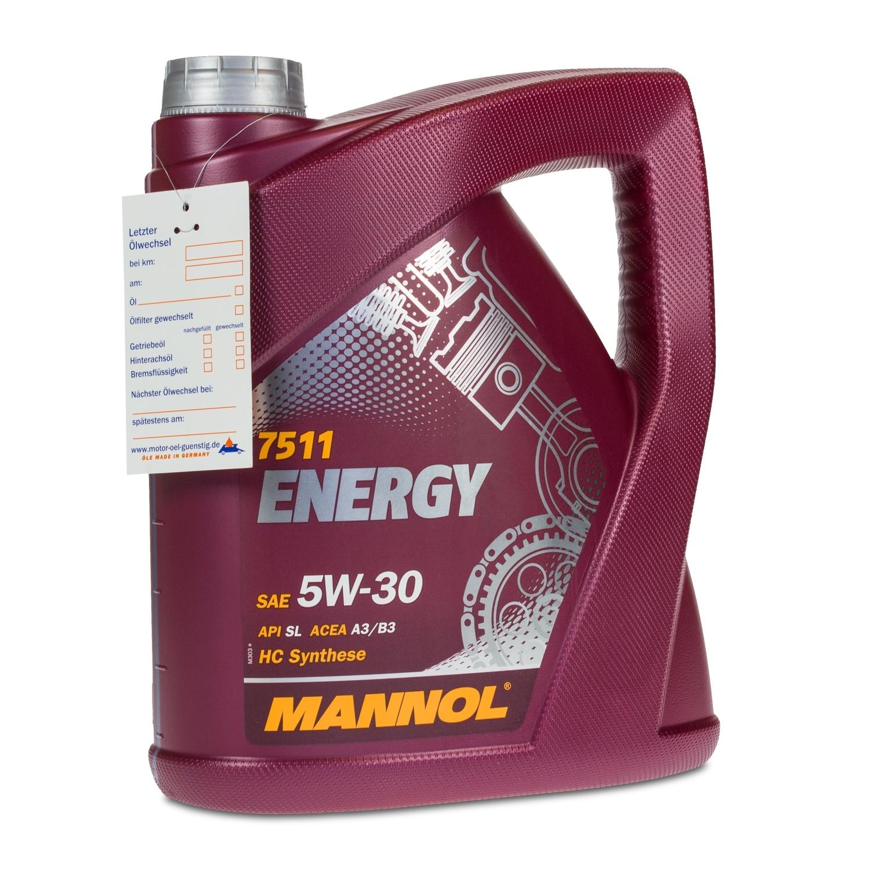 8 2x4 liter mannol sae 5w 30 energy motor l vw. Black Bedroom Furniture Sets. Home Design Ideas