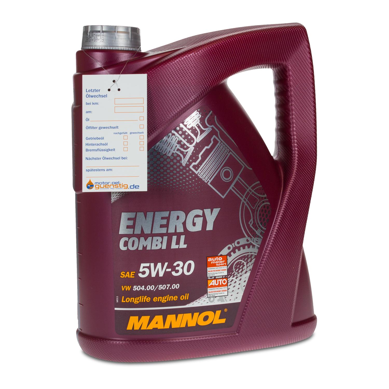 10 2x5 liter mannol sae 5w 30 energy combi ll motor l. Black Bedroom Furniture Sets. Home Design Ideas
